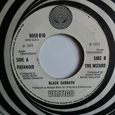 BLACK SABBATH -paranoid/the wizzard,UK,VERTIGO 1970,MINT-