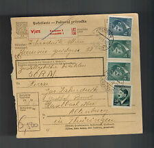 1943 Kremser BM Germany Parcel Cover Altenburg KZ Concentration Camp Hasag Werke