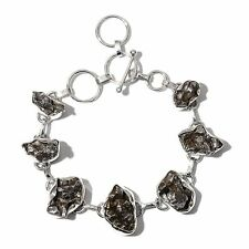 Artisan Crafted Campo del Cielo METEORITE BRACELET in Sterling Silver 72.52 Cts.