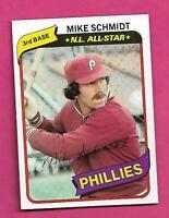 1980 TOPPS # 270 PHILLIES MIKE SCHMIDT AS NRMT-MT  CARD (INV# C8032)