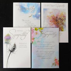 Pack Of 4 Sympathy Card / Packs / Set of 4 ~ Simon Elvin Condolence Bereavement