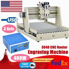 3040 Cnc Router Engraver Machine 3 Axis Engraving Milling Machine Desktop 400w