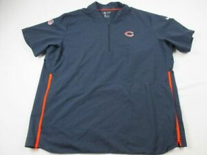Chicago Bears Nike Pullover Men's Navy Short Sleeve Pullover Used 2XL