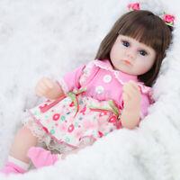 Lifelike Baby Girl Real Doll Silicone Vinyl Handmade Reborn Newborn Blue