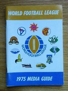 1975 WORLD FOOTBALL LEAGUE Media Guide VULCANS SUN BELL EXPRESS WINDS STEAMERS