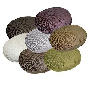 wg+7 Checker Rhombus Geometric Pattern Round Shape Cushion Cover/Pillow Case