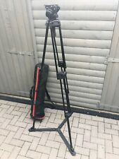 Manfrotto 501HDV head with 525MVB tripod legs and ground spreader + Case