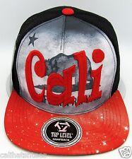 CALIFORNIA REPUBLIC Snapback Cap CALI Bear Flag Mesh Trucker Hat Black Red NWT