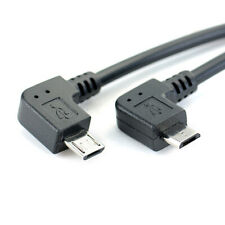 Left Angle 90 Degree Micro USB Male to Male Cable Converter OTG Adapter CSN