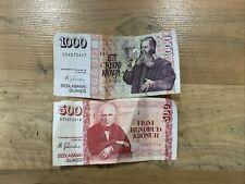 More details for 1806 hundrud kronur iceland money sedlabanki isalnds bank notes cash