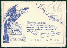 Militari Fascismo II Armata 1942 Dalmazia RETRO BIANCO FG cartolina XF3905