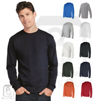 Gildan Mens DryBlend 50/50 Plain Blank Long Sleeve T Shirt S-3XL - 8400