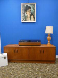 Retro G Plan Fresco low Sideboard, teak media / record cabinet. Northants