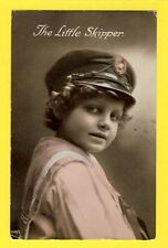 Carte Postale Ancienne Old Postcard YOUNG GIRL JEUNE FILLE The Little SKIPPER