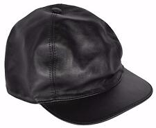 NEW Gucci Men's 368361 Black Calf Leather Baseball Cap Hat SMALL
