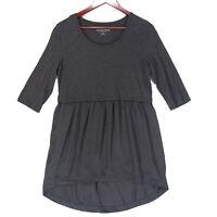 Soft Surroundings Women's Gray 3/4 Sleeve Tunic Top - Size Small