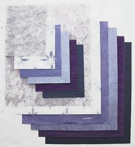 Clearance 24 Sheets of Lilac & Purple Papers Assorted Colours & Texture New