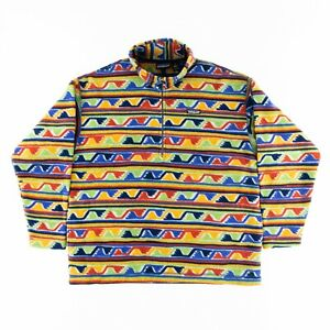 Patagonia Vintage 90s Mens XL Synchilla Fleece 1/4 Zip Pullover Sweater Jacket