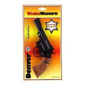 Western Pistole 12 Schuss Denver 22 cm Spielzeug Sohni Wicke Karneval Fasching