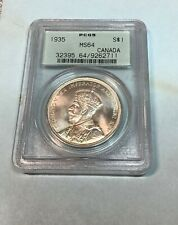 1935 Canada Silver Dollar, PCGS MS64,Nice!