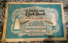 U-need-me cook book; Ladies Zions Church Evangelical-MILWAUKEE,WI -RARE BOOK ADS
