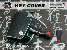 Leather Key fob Holder Case Chain Cover FIT For BENZ E220 300 E350 ML 250 202H