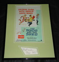 George Gobel Signed Framed 11x14 Photo Display The Birds and the Bees