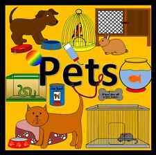 PETS topic resource pack on CD- EYFS, KS1, childminder, teacher, animals