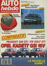 AUTO HEBDO n°617 du 23 Mars 1988 VW GOLF GTI 16S OPEL KADETT GSI 16V