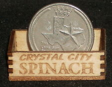 Dollhouse Miniature Crystal City Spinach Produce Crate 1:12 Scale / Texas Market