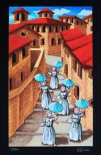 Ulisse, sotto la pioggia serigrafia materica 50 x 35 !