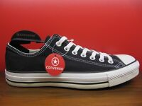 New Converse All Star Chuck Taylor Black Canvas Classic Low US Men 3-11 Shoes