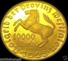 GERMAN NOTGELD - Westphalia Province 1923 10,000 Mark Coin - XRARE XLARGE COIN