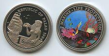PA02 - Palau 1 Dollar 1994 KM#5 Marine Life Protection Multicolor Farbmünze