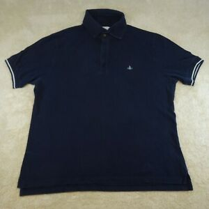 Vivienne Westwood Polo Shirt Adult Extra Large Blue Rugby Casual Cotton Top Mens