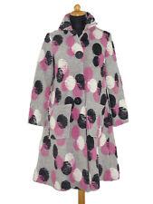 Mantel Damenmantel Walkmantel Wollmantel gepunktet Boppel grau pink wollweiß sw