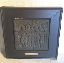Vintage carved stone bias BOROBUDUR RELIEF Jataka Awadana NOTICE DICISSION Ba.42