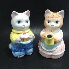 Avon Lot 1991 Cat Cream Pitcher and Sugar Bowl, Excellent!