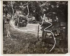 26x20 Presse Foto 1931 Unfall Packard Ford Chevi vor Odermatt Polizei photo