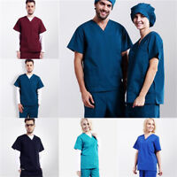 Unisex Men/Women Uniforms Medical Hospital Nursing Scrub Set Top & Pants