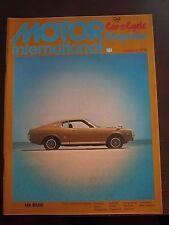 Motor International Car & Cycle Magazine January 1974 (D)