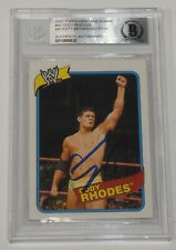 Cody Rhodes Signed WWE 2007 Topps Heritage Rookie Card #40 BAS COA RC Autograph
