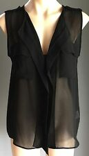 Lovely COTTON ON Sheer Black Sleeveless Blouse / Top Size S/10