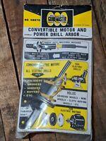 VTG NOS 1973 Globemaster Convertible Motor Power Drill Arbor Tool No. 688870 NEW