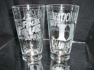 2015 FINAL FOUR NATIONAL CHAMPION DUKE BLUE DEVILS ETCHED 16 oz PINT GLASSES (2)