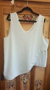 Lovely VERONIKA MAINE ladies mint sleeveless dressy top (size 14)