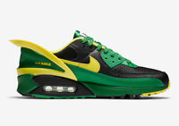 Nike Air Max 90 Flyease CZ4270 001 Oregon Ducks Mens US 8 UK 7 Running Sneaker