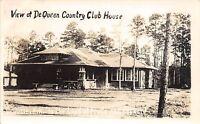Arkansas AR Real Photo RPPC Postcard c1940s DEQUEEN Contry Club House