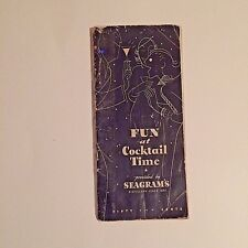 FUN at Cocktail Time First Printing 1934 RARE Julien J  Proskauer Seagrams Book