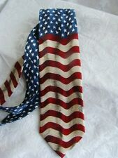 America Stars Stripes Neck Tie USA Flag Memorial Patriotic Labor Day July 4th